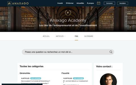 Screenshot of FAQ Page anaxago.com - Anaxago | FAQ - captured July 30, 2018