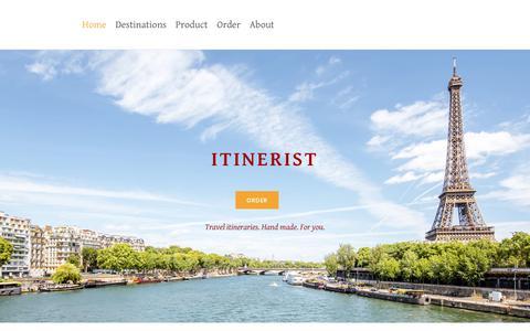 Screenshot of Home Page itinerist.com - Home - captured Sept. 20, 2018