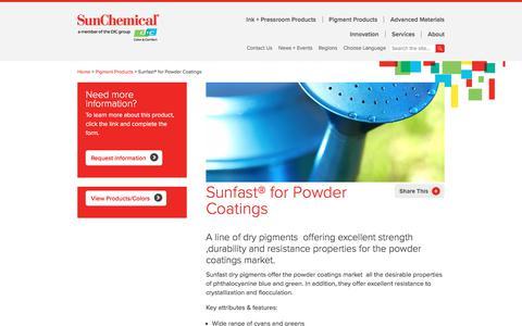 Sunfast® for Powder Coatings
