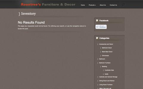 Screenshot of Products Page rountreesfurniture.com - Inventory Archives - Rountree's Furniture and Decor - captured Jan. 3, 2017