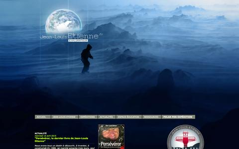 Screenshot of Home Page jeanlouisetienne.com - Jean-Louis Etienne  - Explorateur - captured Oct. 11, 2015