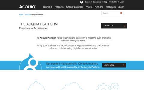 Screenshot of Products Page acquia.com - Acquia Platform | Acquia - captured Nov. 17, 2015
