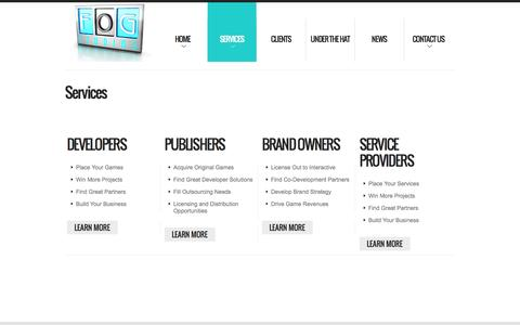 Screenshot of Services Page fogstudios.com - Services  |  FOG Studios – The Leading Agency For Interactive Rights Since 1979 - captured Sept. 30, 2014