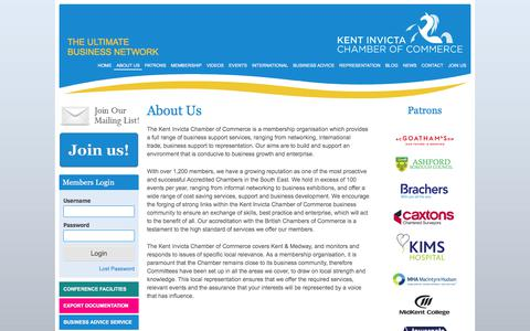 Screenshot of About Page kentinvictachamber.co.uk - About Us | Kent Invicta Chamber of Commerce - captured Sept. 17, 2017