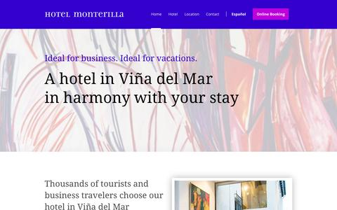 Screenshot of Home Page monterilla.cl - Hotel Monterilla - Hotel in Viña del Mar - Monterilla - captured Sept. 30, 2018