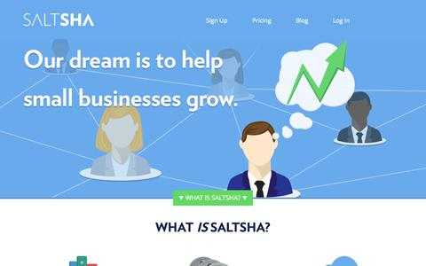 Screenshot of Home Page saltsha.com - Saltsha | Small Business Resources | Grow Your Business - captured Jan. 26, 2015