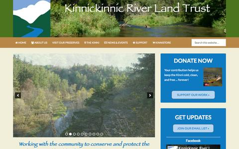 Screenshot of Home Page kinniriver.org - Kinnickinnic River Land Trust – Working with the community to conserve and protect the beauty and health of the Kinnickinnic River and its watershed. - captured Sept. 6, 2015