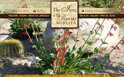 Screenshot of Site Map Page ranchomerlita.com - Site Map for The Inns at El Rancho Merlita - captured Jan. 27, 2016
