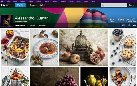 Screenshot of Flickr Page flickr.com - Flickr: Alessandro Guerani's Photostream - captured Oct. 25, 2014
