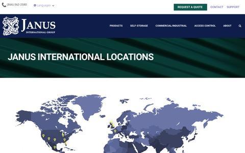 Screenshot of Locations Page janusintl.com - Locations - captured Feb. 18, 2019