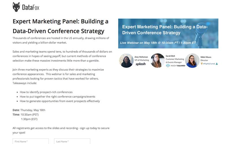 Expert Marketing Panel:Building a Data-Driven Conference Strategy