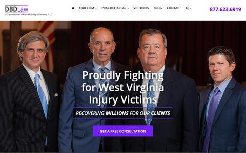 Screenshot of FAQ Page dbdlawfirm.com - Personal Injury FAQ - DBD Law - captured Oct. 9, 2018