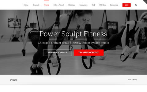 Screenshot of Pricing Page powersculptfitness.com - Pricing – Power Sculpt Fitness - captured July 21, 2018