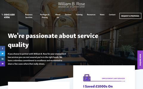 Screenshot of Case Studies Page williambrose.com - Case Studies Archive - William B Rose - captured Oct. 21, 2017