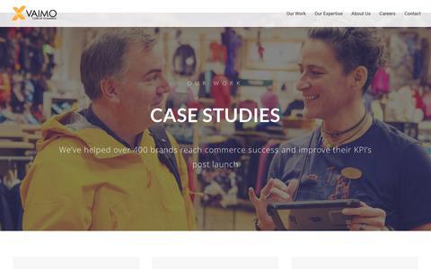 Screenshot of Case Studies Page vaimo.com - Vaimo Client eCommerce Case Studies - Vaimo - captured Oct. 12, 2017