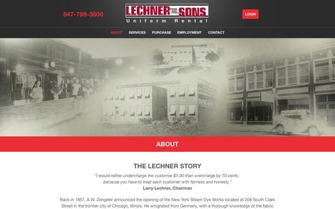 Screenshot of About Page lechnerandsons.com - About Lechner & Sons | Our History: The Lechner Story - captured Sept. 29, 2014