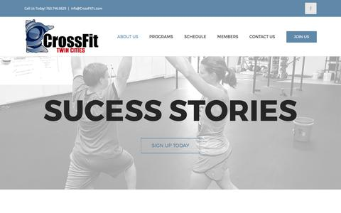 Screenshot of Testimonials Page crossfittc.com - Testimonials - Crossfit Twin Cities - captured Aug. 31, 2017