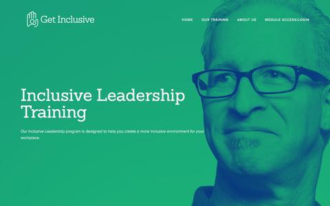 Screenshot of Team Page getinclusive.com - Inclusive Leadership — Get Inclusive - captured July 18, 2018