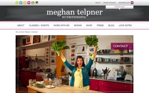 Screenshot of Contact Page meghantelpner.com - Contact | Meghan Telpner - captured Oct. 27, 2014