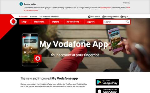 Download the My Vodafone app