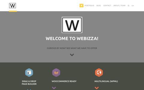 Screenshot of Home Page webizza.com - Webizza   - captured Oct. 7, 2014