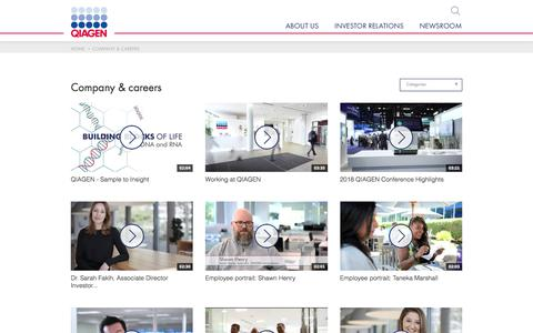 Screenshot of Jobs Page qiagen.com - Company & careers - QIAGEN Corporate - captured July 10, 2019