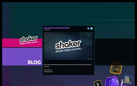 Screenshot of Blog atshaker.com - Shaker Blog - captured Sept. 17, 2014