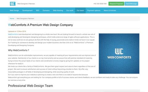 Screenshot of Team Page webcomforts.com - Web Designers Pakistan. - captured Nov. 19, 2018