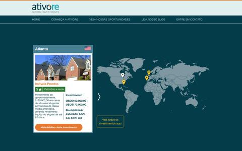 Screenshot of Home Page ativore.com - Ativore Global Investments - captured Oct. 4, 2014