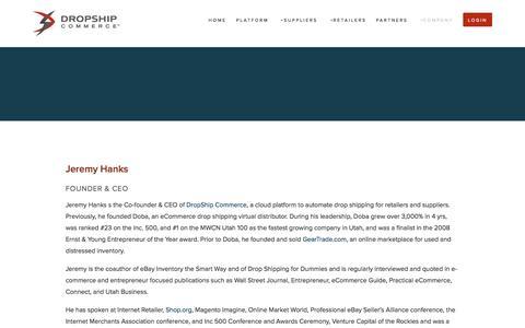 Screenshot of Team Page dropship.com - Leadership — DROPSHIP COMMERCE - captured Sept. 15, 2014