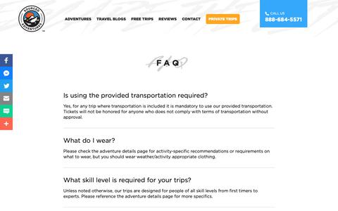 Screenshot of FAQ Page sourcedadventures.com - FAQ - Sourced Adventures | Sourced Adventures - captured Nov. 18, 2018