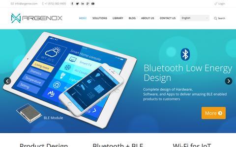Screenshot of Home Page argenox.com - Argenox Technologies - Unleash Your System - captured Sept. 11, 2015