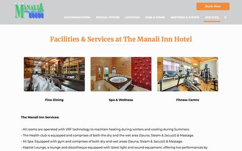 Screenshot of Services Page manaliinn.com - Facilities | The Manali Inn | LuxuryHotel in Manali - captured Oct. 18, 2018