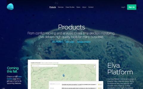 Screenshot of Products Page elva.org - Elva   Products - captured Nov. 6, 2016