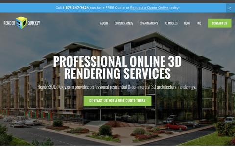 Screenshot of Home Page render3dquickly.com - Render3DQuickly - captured Dec. 21, 2015