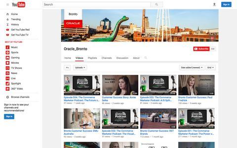 Oracle_Bronto  - YouTube