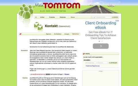 Screenshot of Privacy Page meintomtom.de - Kontakt - Datenschutz | MeinTomTom - captured Nov. 4, 2014