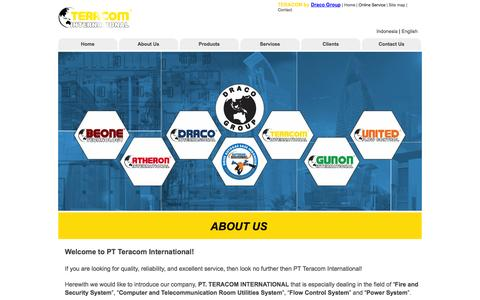 Screenshot of About Page teracom.co.id - About - PT TERACOM INTERNATIONAL - captured Nov. 1, 2014