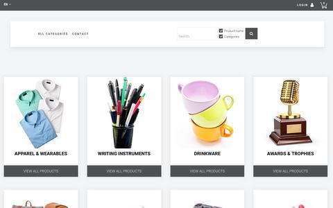 Screenshot of Products Page promocan.com - Home || PROMOCAN - captured Jan. 27, 2018