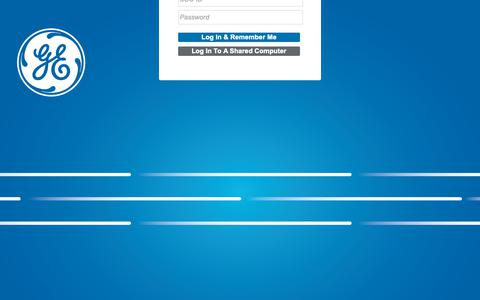 Screenshot of Login Page ge.com - GE : Single Sign On - captured Oct. 19, 2018
