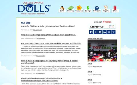Screenshot of Blog collegesavingsdolls.com - College Savings Dolls - captured Oct. 8, 2014