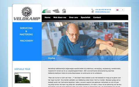 Screenshot of Home Page veldkamp.com - Veldkamp BV | Servicing & Mastering Machinery - captured Dec. 2, 2016