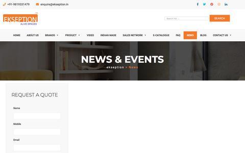Screenshot of Press Page ekseption.in - ekseption    » News - captured July 17, 2018
