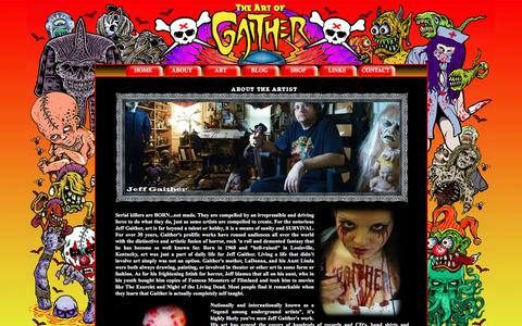 Screenshot of About Page jeffgaither.com - The Art of Jeff Gaither - Contact Page - captured April 2, 2017