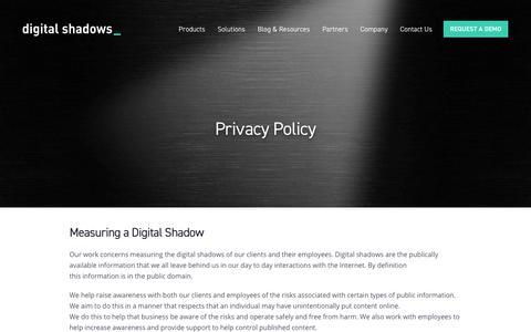 Privacy Policy   Digital Shadows
