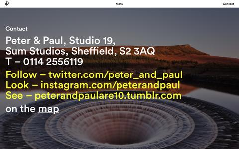 Screenshot of Contact Page peterandpaul.co.uk - Contact → Peter & Paul - captured Nov. 5, 2016
