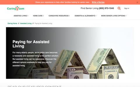 Screenshot of caring.com - Paying for Assisted Living | Caring.com - captured Dec. 26, 2017