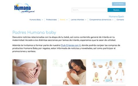 Screenshot of Blog humana-baby.es - Blog para mamás y papás - captured Aug. 21, 2019