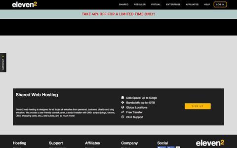 Screenshot of Signup Page eleven2.com - Eleven2 Web Hosting, Reseller Hosting, VPS & Enterprise Servers - captured Oct. 20, 2015