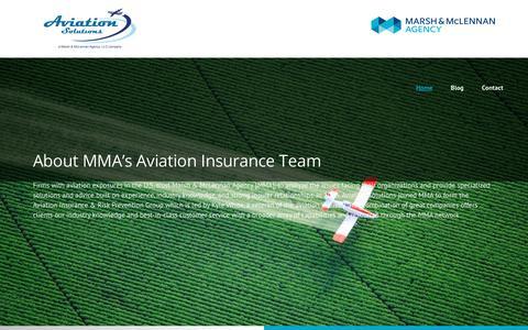 Screenshot of Home Page aviationsolutionsllc.com - Aviation LLC – Marsh & McLennan Agency - captured Oct. 9, 2017